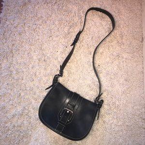 Vintage Bally Black Leather Crossbody Purse